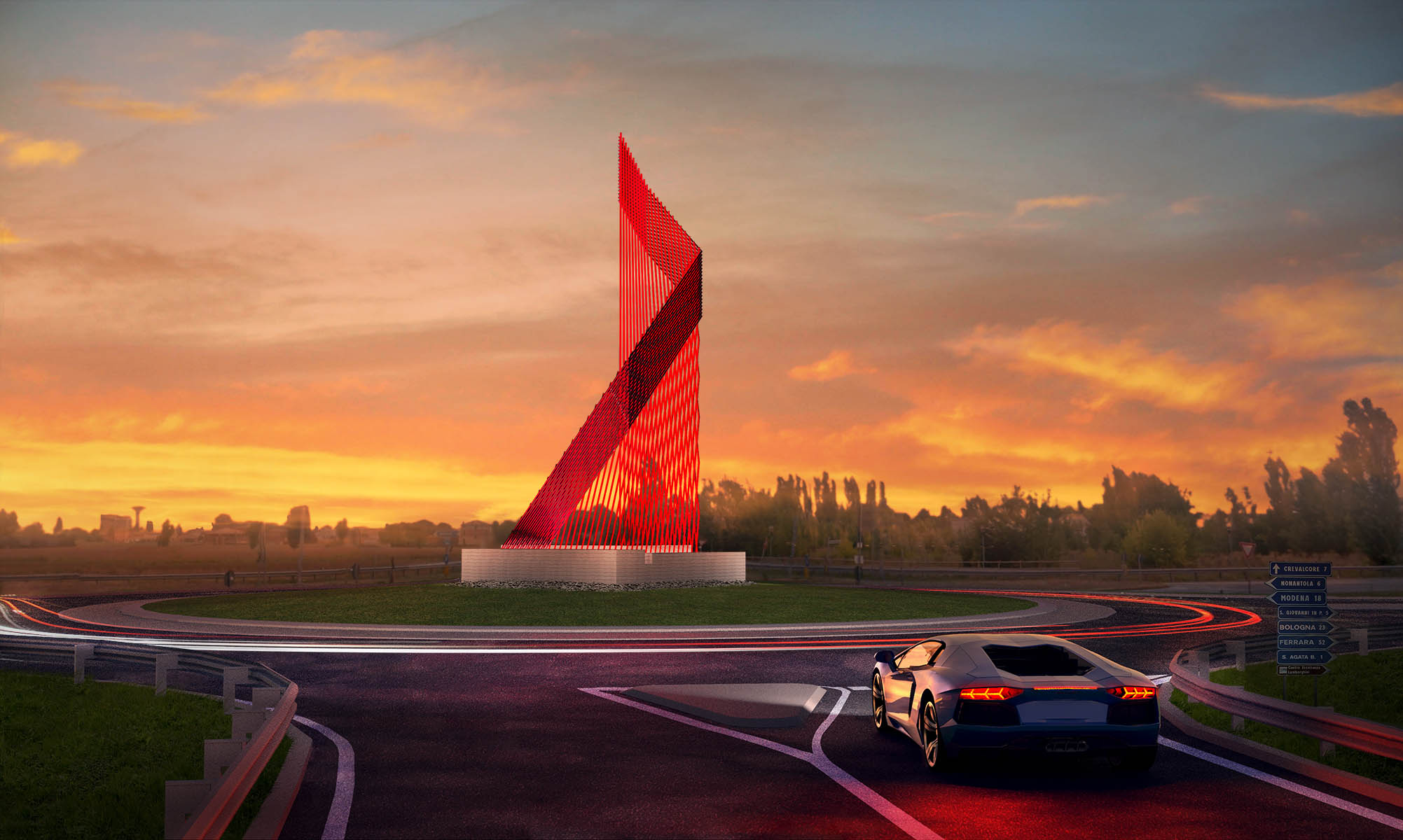 Lamborghini Road Monument Competition Architects Group Practice